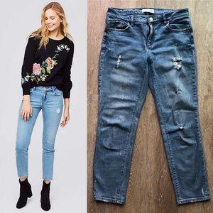 LOFT Modern Skinny Crop Destructed Jeans